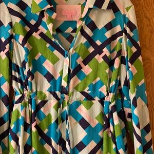 Lilly Pulitzer Dresses - Lilly Pulitzer shirt dress size 12